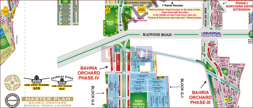 Bahria Orchard Phase 4 New Map