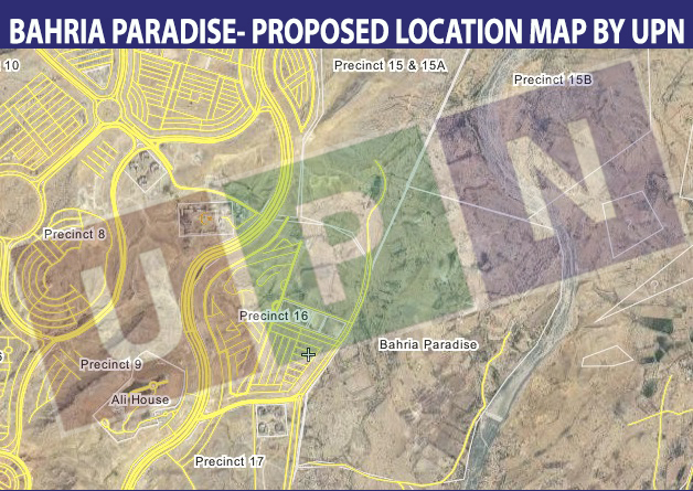 Bahria Paradise Location Map