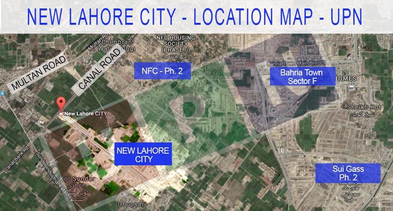 New Lahore City Location Map