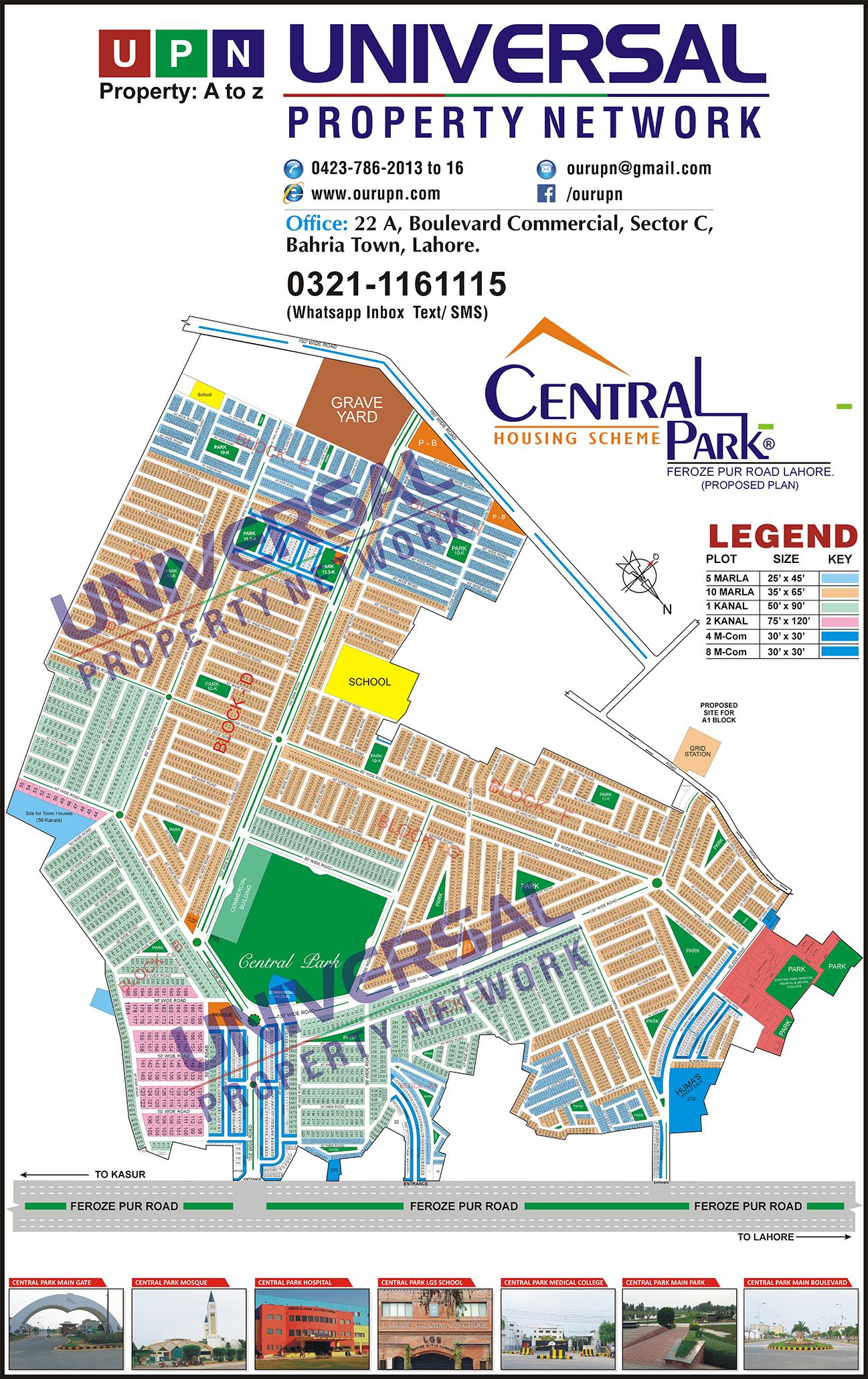 Central Park Map  U2013 Housing Scheme Map Lahore