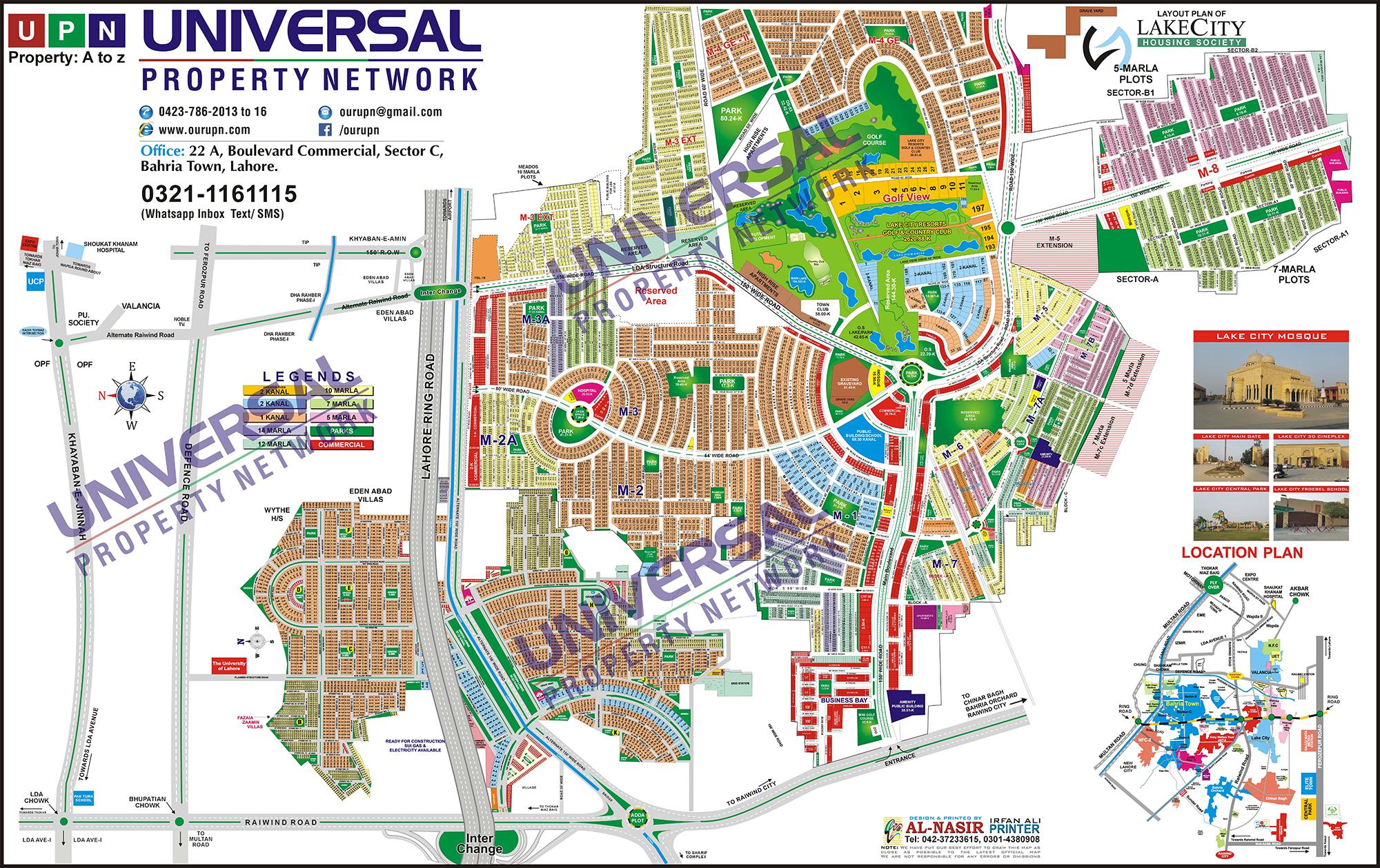 Lake City Map Lahore Real Estate Maps Lake City Lahore Map Map Lake City