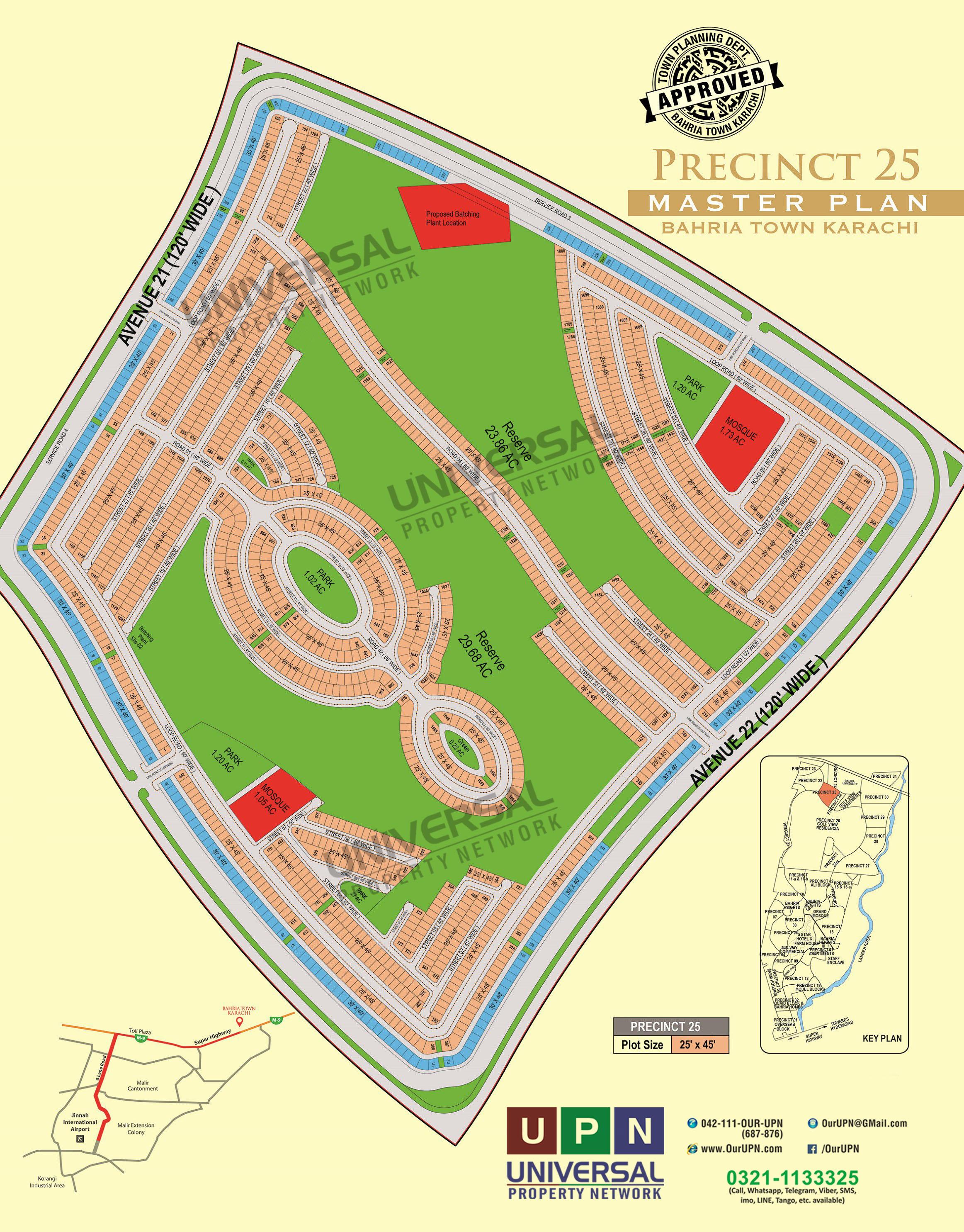 Precinct 25 Map Bahria Town Karachi - Bahria Town Karachi
