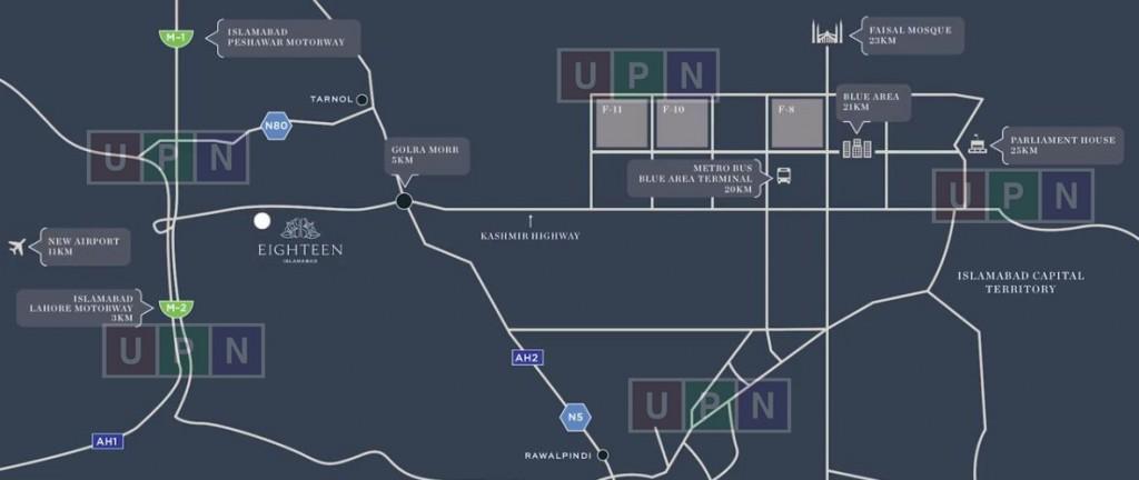 Eighteen Islamabad Map