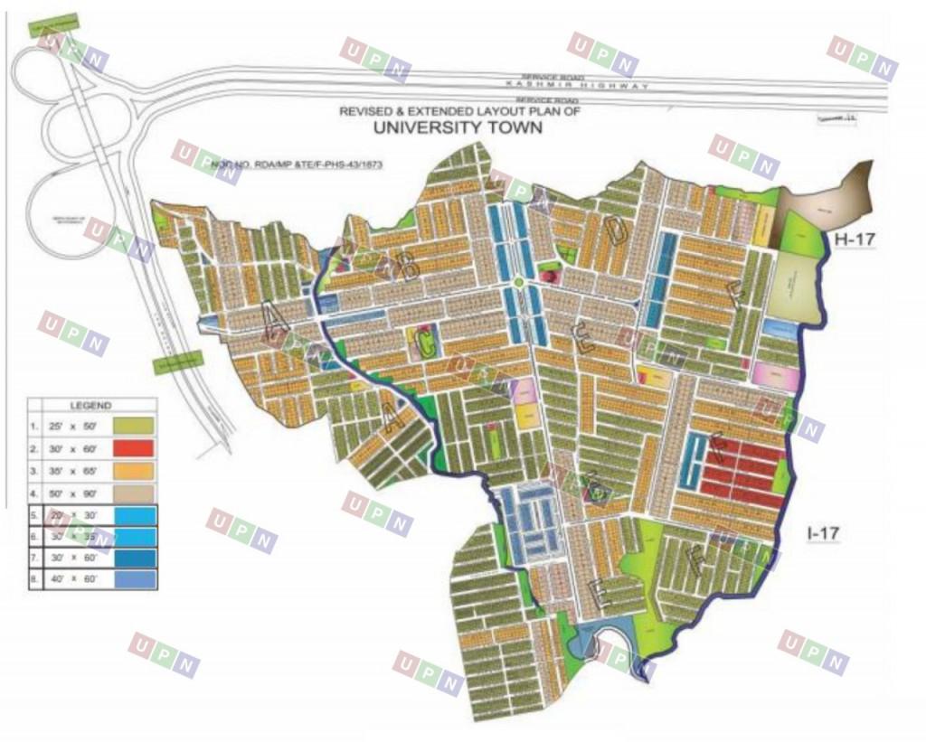 University Town Islamabad Master Plan