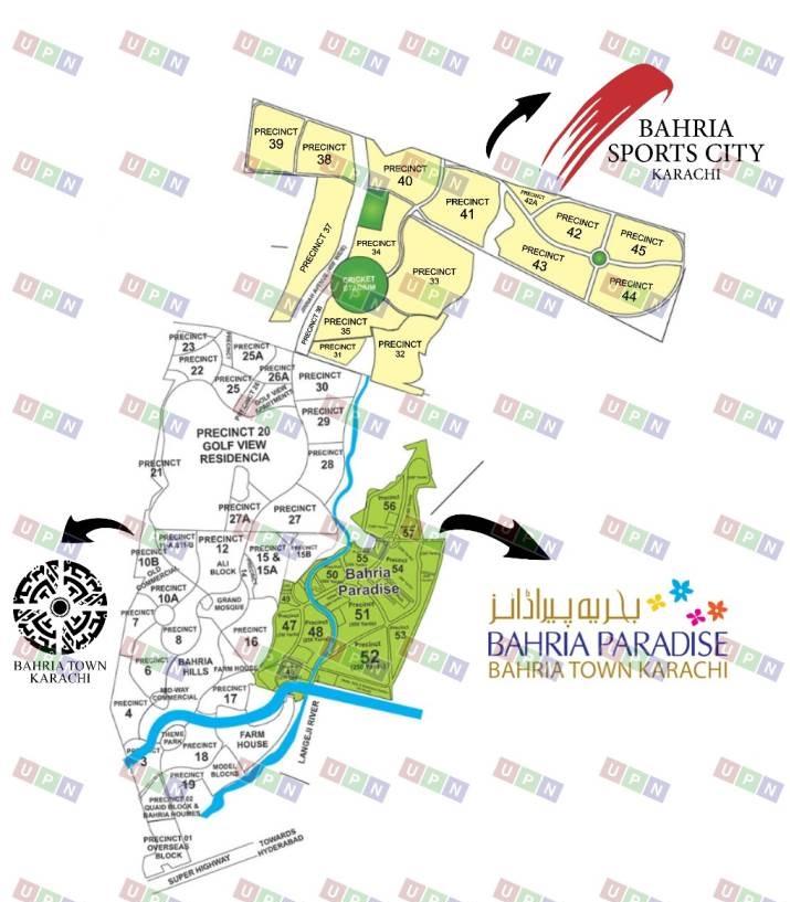 Bahria Town Karachi map
