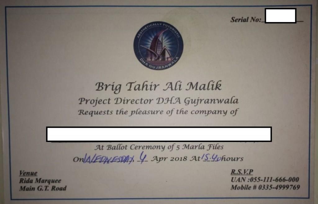 DHA Gujranwala Balloting Date