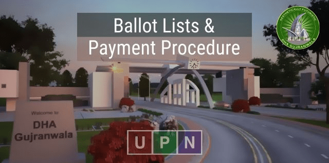 DHA Gujranwala 5 Marla Plots Complete Ballot Lists & Payment Schedule