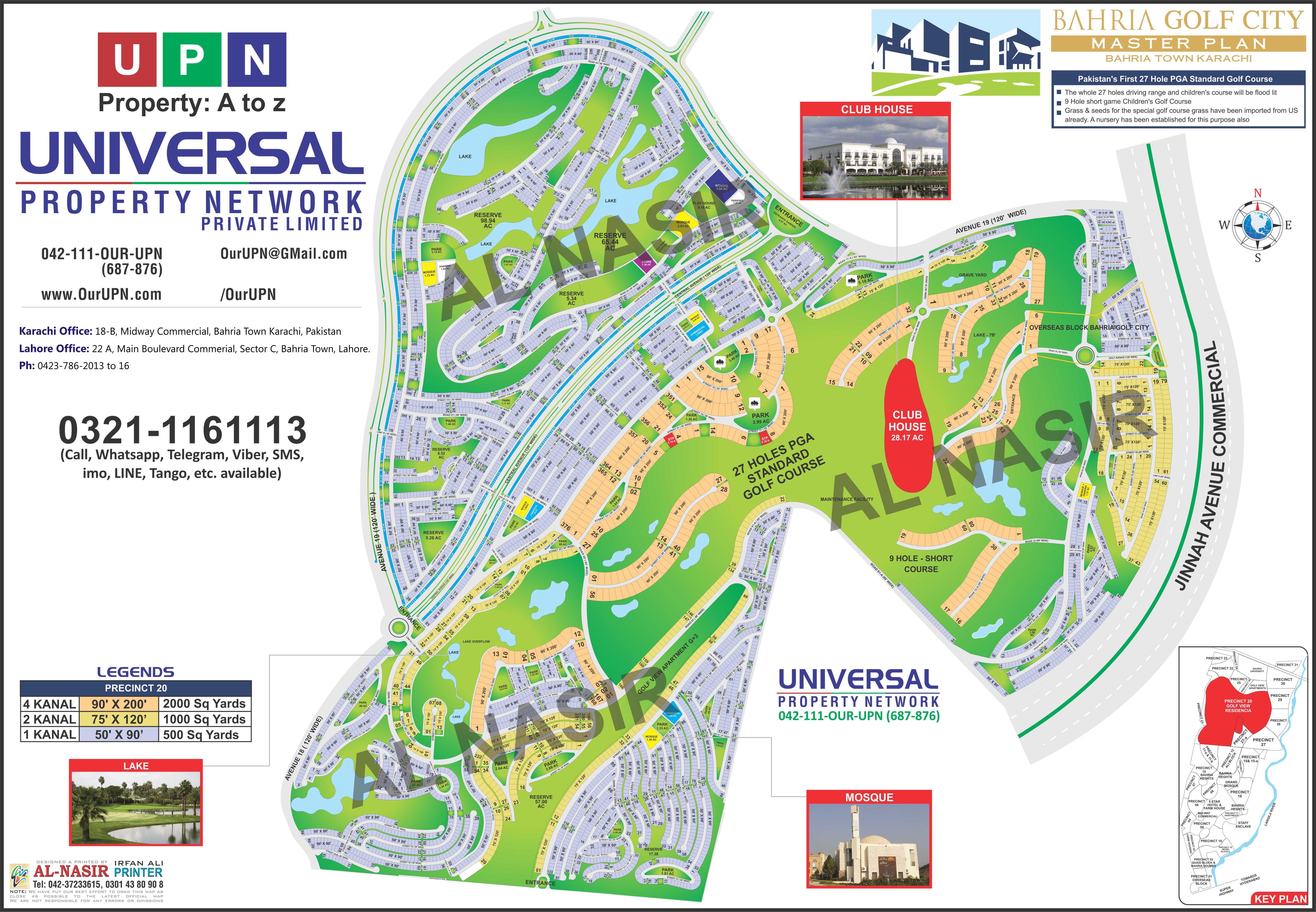 Bahria Golf City Map - Bahria Town Karachi Maps - Bahria