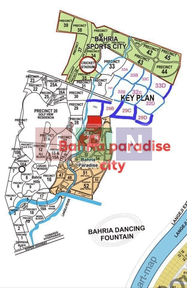 Bahria Town Karachi Map Changes -New Precincts Location post Balloting