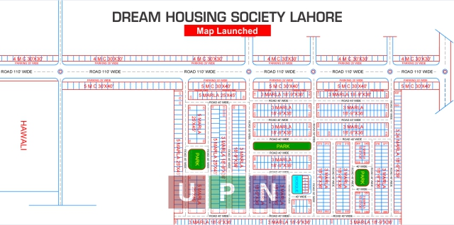 Dream Housing Society Lahore Map Launched after Balloting – Latest Update