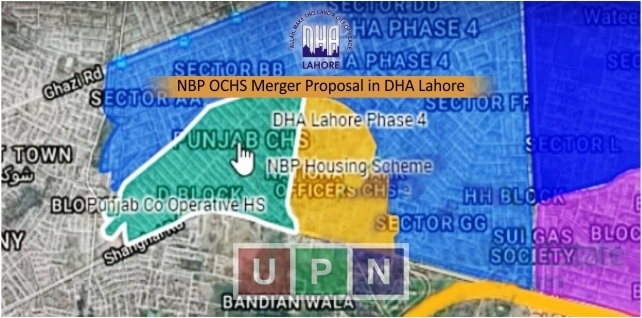 NBP Officers Cooperative Housing Society Merger Proposal by DHA Lahore
