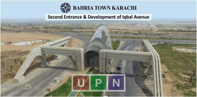 Bahria Town Karachi Second Entrance and 300 ft. Iqbal Avenue Development
