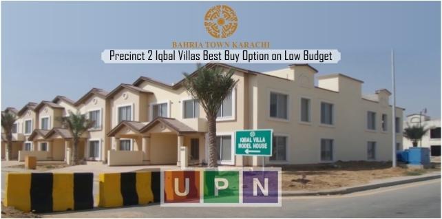 Bahria Town Karachi Precinct 2 Iqbal Villas Best Buy Option on Low Budget