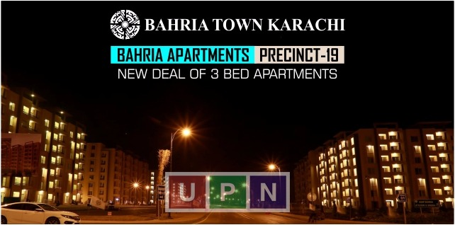 New Deal of 3-Bedroom Apartments in Bahria Town Karachi Precinct 19