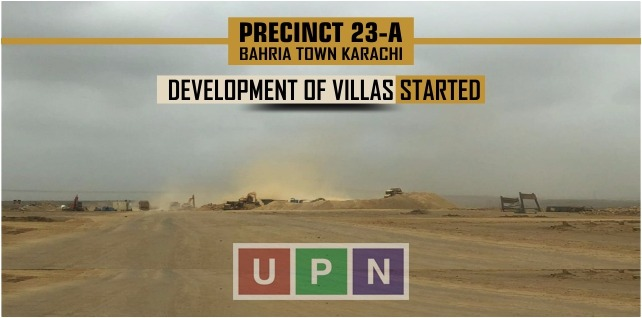 Precinct 23A Villas Development Started – Bahria Town Karachi Update