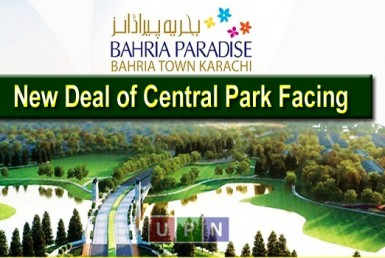 New Deal of Central Park Facing Apartments in Bahria Paradise Karachi