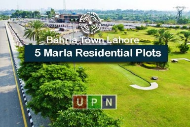 5 Marla Residential Plots in Bahria Town Lahore - Location, Prices, and Investment Potential