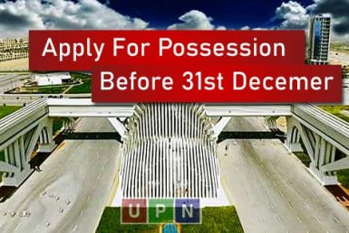 Bahria Town Karachi - Final Notice/Message to Apply For Possession Before 31st December