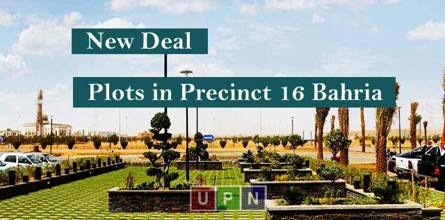 New Deal of Plots in Precinct 16 Bahria Town Karachi