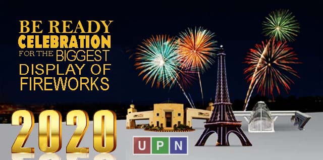 New Year Celebration 2020 Fireworks in Bahria Town Lahore, Karachi & Islamabad