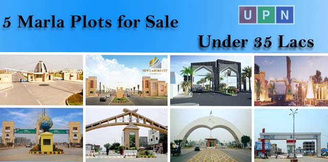 5 Marla Plots for Sale in Lahore Under 35 Lacs