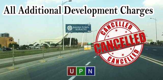 Bahria Town Karachi Cancelled All Additional Development Charges on Residential Plots – Good News For You