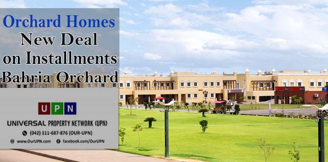 Orchard Homes – New Deal of Homes on Installments in Bahria Orchard Lahore