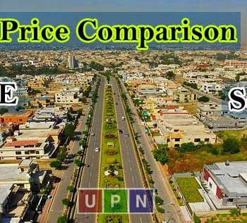 Price Comparison of Plots in Sector E & Sector F - Bahria Town Lahore