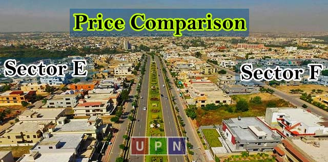 Price Comparison of Plots in Sector E & Sector F – Bahria Town Lahore