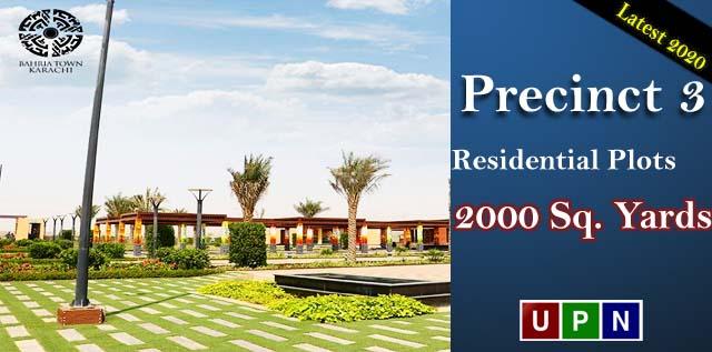 Residential Plots of 2000 Sq. Yards For Sale in Precinct 3 – BahriaTown Karachi