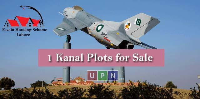 1 Kanal Plots for Sale in Fazaia Housing Scheme Lahore