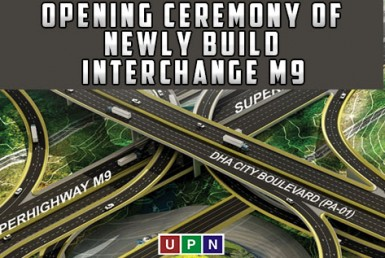 opening ceremony of Bahria Town interchange