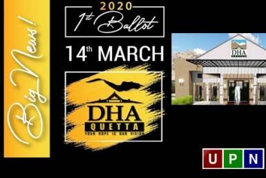 DHA Quetta - Balloting Date Announced