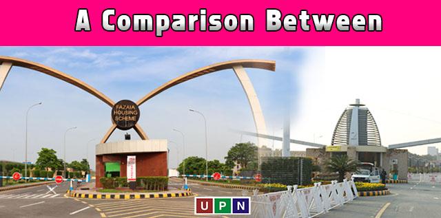 Fazaia Housing Scheme Lahore or Bahria Orchard Lahore ? A Comparison