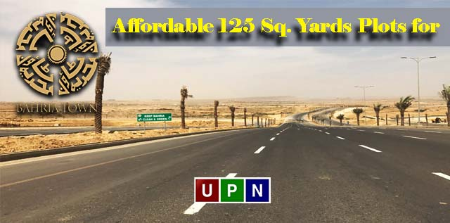 Ideally Located yet Affordable 125 Sq. Yards Plots for Sale in Bahria Town Karachi