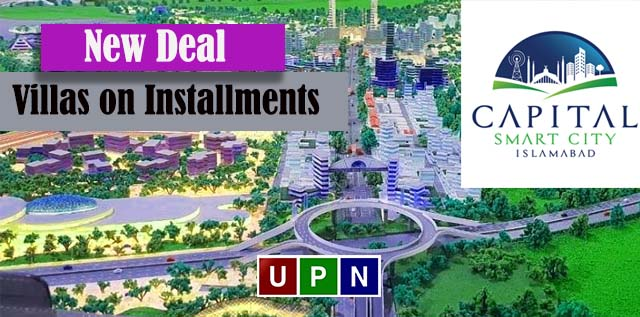 New Deal of Villas on Installments in Capital Smart City Islamabad