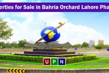 Properties for Sale in Northern and Central Block of Bahria Orchard Lahore Phase 1
