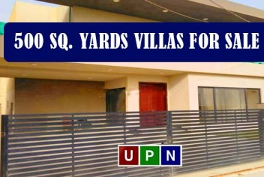 500 Sq. Yards Villas for Sale in Bahria Town Karachi