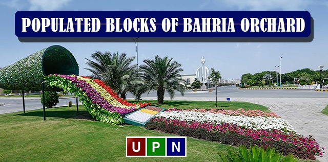 Populated Blocks of Bahria Orchard Lahore for Investment