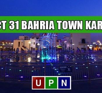 Precinct 31 Bahria Town Karachi - Possession Announced
