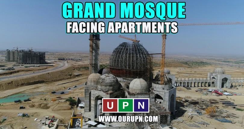 Grand Mosque Facing Apartments in Bahria Town Karachi
