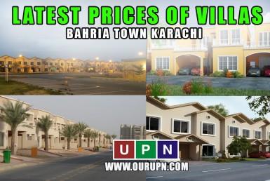 Latest Prices of Villas in Bahria Town Karachi in 2021