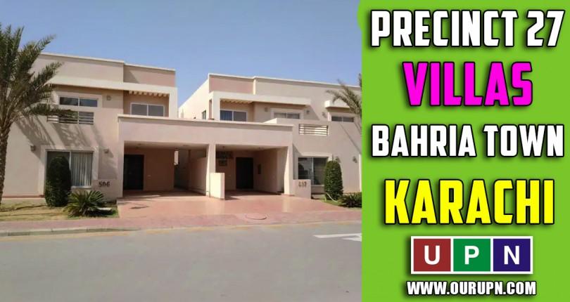 Precinct 27 Villas Bahria Town Karachi – Updates 2021