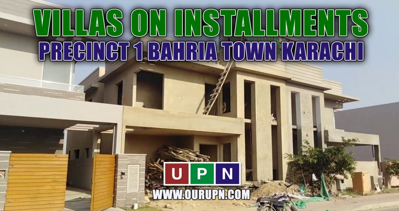 Villas on Installments in Precinct 1 Bahria Town Karachi