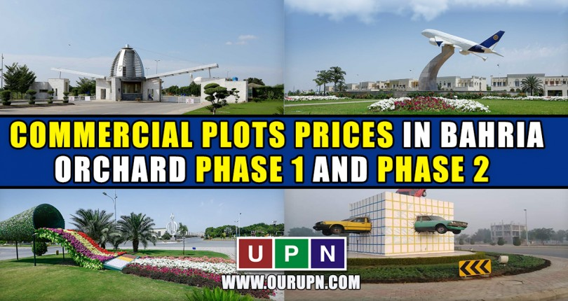 Commercial Plots Prices in Bahria Orchard Phase 1 and Phase 2