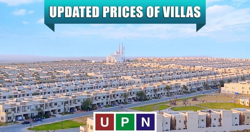 Updated Prices of Villas In Bahria Town Karachi
